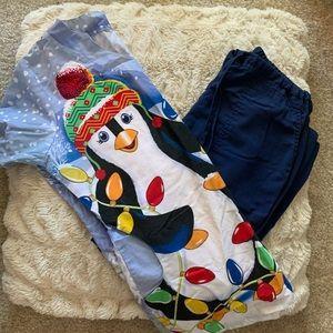 Penguin Winter Scrub Set Size XS